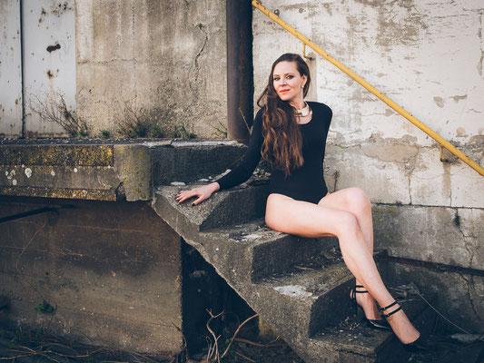 Fotoshooting, Treppe, Model, Beine, Body, Mannheim, Hafen,