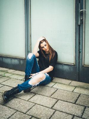 Dr. Martens, Fotoshooting, Karlsruhe, Model, natürlich, Haare, Natascha