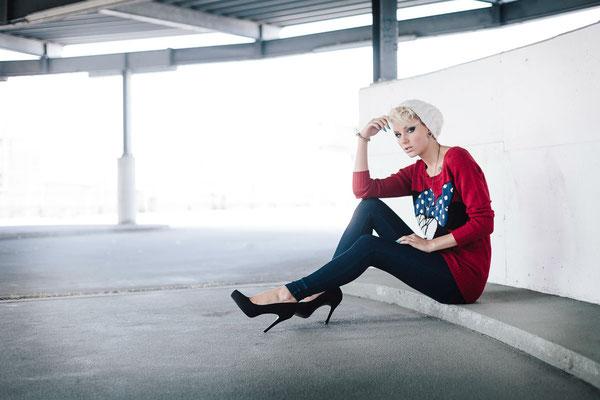 Mia Harding, Fotoshooting, Karlsruhe, Parkhaus