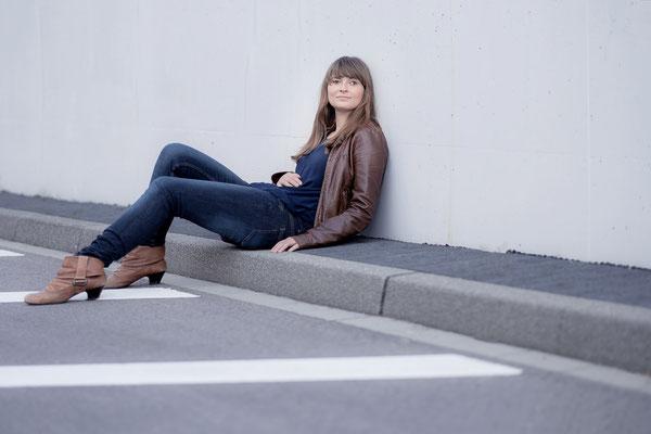 Schauspieler, Fotograf, Karlsruhe, Lene Lennermann, Jeans, Lederjacke, Fotoshooting,