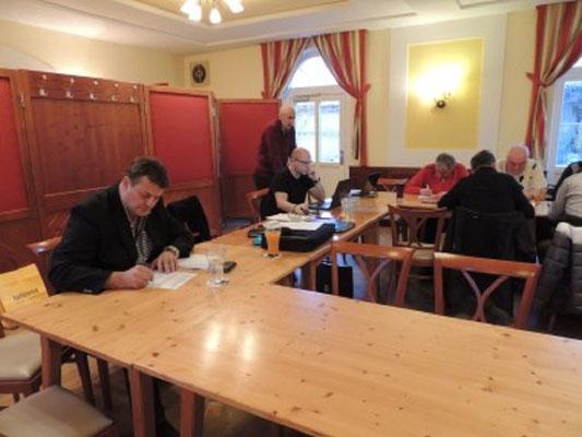 Regeltest überwacht von Obmann Alois Pemmer