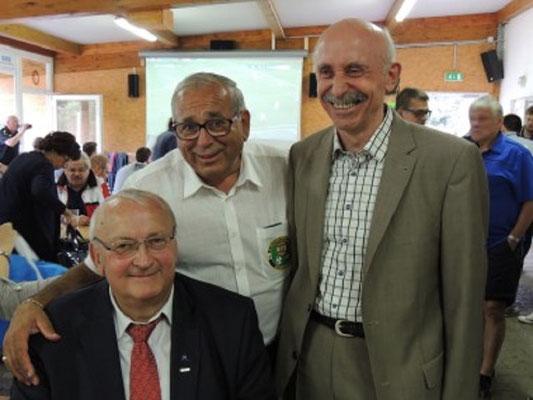 Präsident Gartner, GL Pfeiffer und Obmann Pemmer
