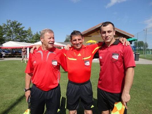 Unser routiniertes Schiri-team Kröpfl Günter mit Assistenten Walter Leidenfrost und Alen Nuhanovic wurde für das Finale zwischen der Gruppe Baden-Nordwest nominiert.
