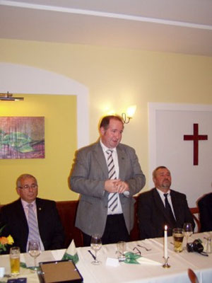 Begrüßung des Hr. Bürgermeisters Karl Elsigan