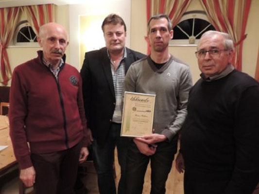 Kollege Andreas Müllauer wurde vom Obmann des NÖSK  Hr. Alois Pemmer und GL Hubert Pfeiffer das Ehrenzeichen des NÖSK in Silber verliehen.