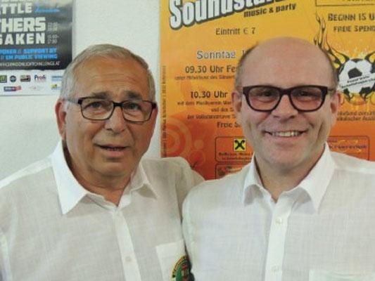 Gruppenleiter Hubert Pfeiffer und Kollege Erich Edinger