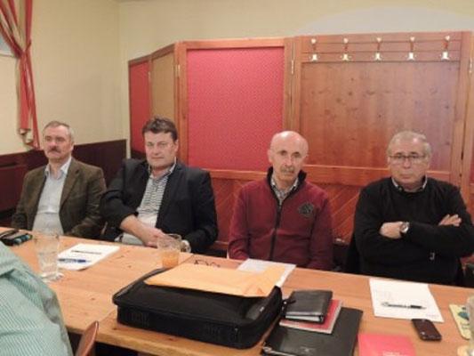 Links: Vize-Präs. Reinhard Litschauer, GL Stv. Alfred Böhm, Obmann Alois Pemmer, GL Hubert Pfeiffer