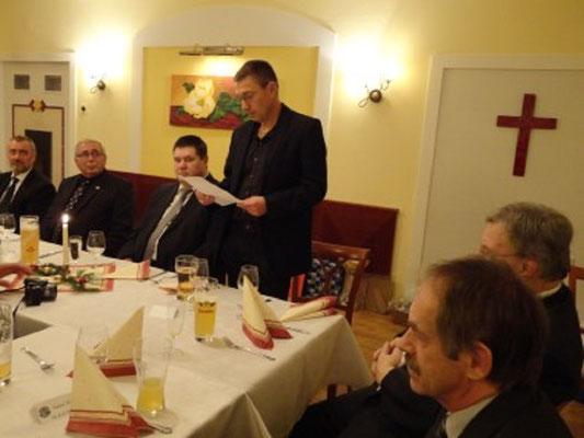 JHG Obmann Gerhard Klein mit seinem Bericht