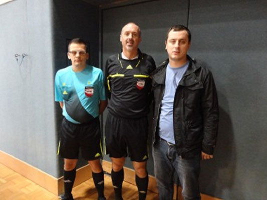 Spielleiter Fritz Laschober, Alen Nuhanovic, Josef Kern