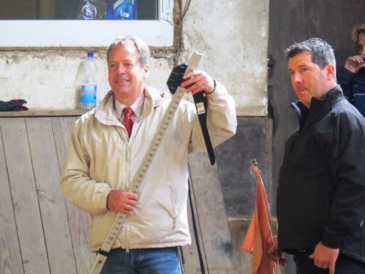 Herr Kusserow, Zuchtverband RPS und Michel Becker