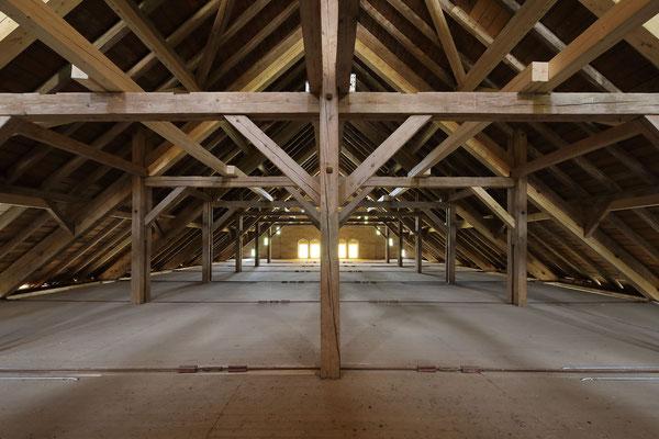 Historische Reithalle Marbach, Hängekonstruktion
