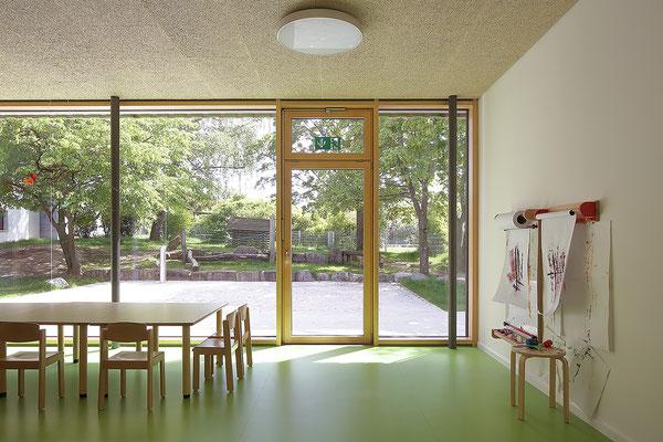Kinderhaus Hagelloch, Gruppenraum mit Garten
