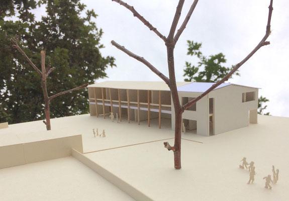 Modell mit Erweiterung Kinderhaus St.Franziskus Reutlingen