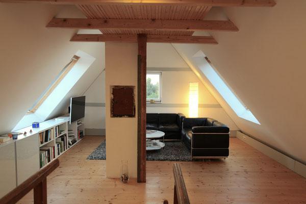 BERG energetische Sanierung, Wohnraum im Dachgeschoss