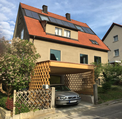 BERG energetische Sanierung, mit neuem Carport