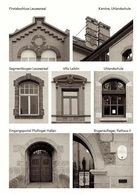 Rathausergänzungsgebäude Pfullingen,  Ableitung der Gestaltungselemente