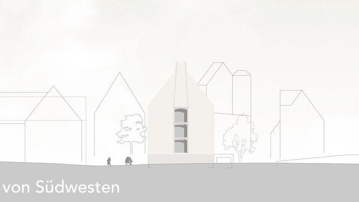 Rathausergänzungsgebäude Pfullingen von Südwesten