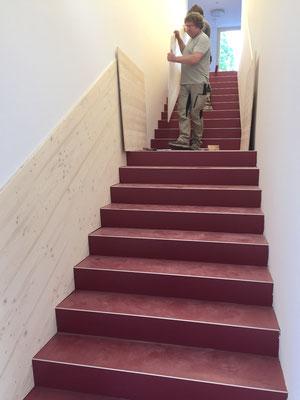 neue Treppe im Kinderhaus St.Franziskus Reutlingen