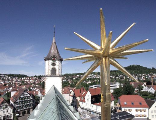 Evangelische Martinskirche Pfullingen, Stern auf dem Chordach