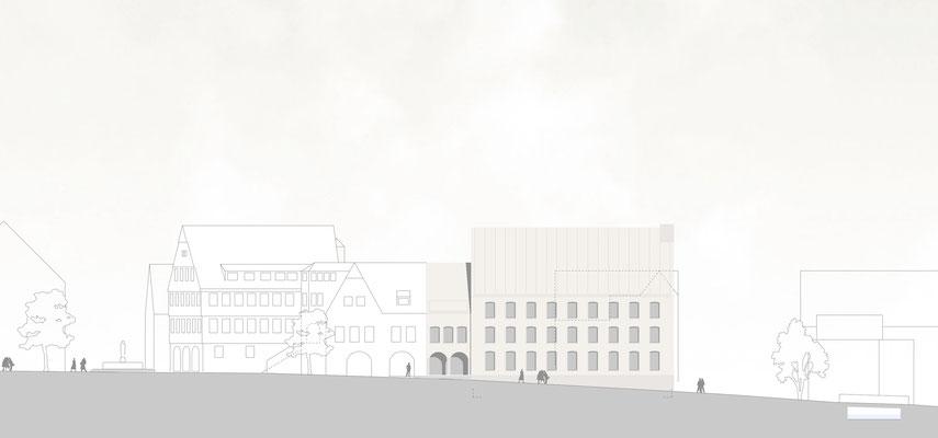 Rathausergänzungsgebäude Pfullingen von Nordwesten