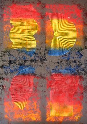 Regenbogen (Licht-Bild zum Liedtext) 2005 / Acryl auf Leinwand / 100 x 70 cm