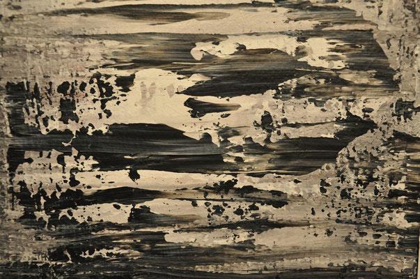 """Offenbarung II: Verbranntes Land - beseelte Bäume (Diptychon - außen - zum Text """"GedankenWelt"""") 2009 / Acryl auf Leinwand / 120 x 40 cm / 2 x / Detail"""