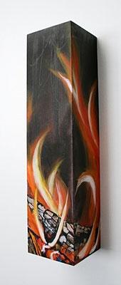 Rundum Licht und Wärme             10x9x40      auf Holzkiste