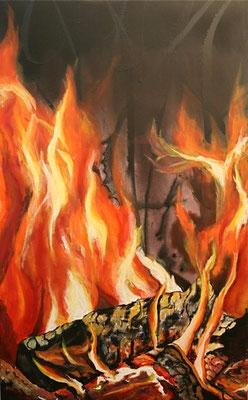 Feuer des Lebens     50x80     Leinwand
