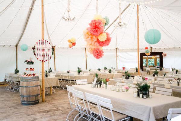 Zelthochzeit, Hochzeit im Zelt, Regenvariante für Hochzeit