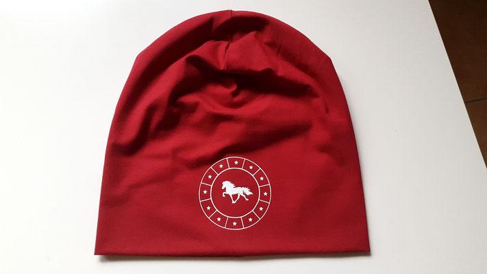 """Jerseymütze in Rot mit Motiv """"Circle Stars"""" in Weiß"""