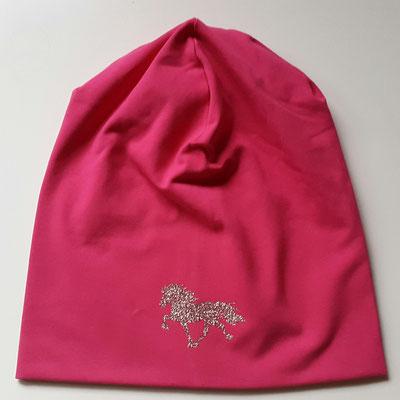 "Jerseymütze in Pink mit Motiv ""Tölter"" in Silber Multicolor Glitzer"
