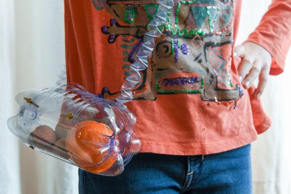 Upcycling; Früchteznünitäschchen aus Petflaschen