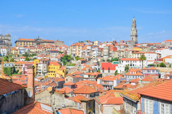 Vue sur le centre ville de Porto depuis Sé Cathédrale