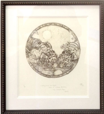 Holding back the Night with its increasing Brilliance #19/100 | Etching | 460x510mm framed