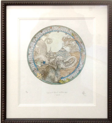 Eastward Bound and the West I found #18/100 | Etching | 460x510mm framed