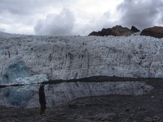 Der letzte Rest vom Pastoruri Gletscher