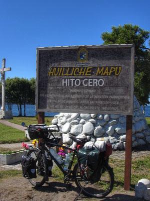 Offizieller Endpunkt der Panamericana in Quellón