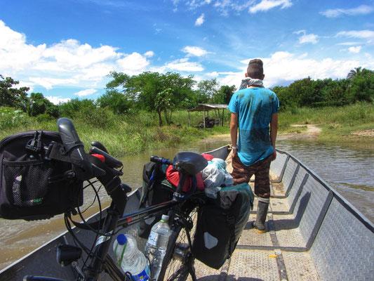 Lanca über den Rio Magdalena