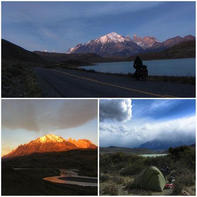 Mit dem Sonnenaufgang zum Torres del Paine Park