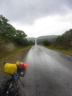 Auf und Ab im Regen