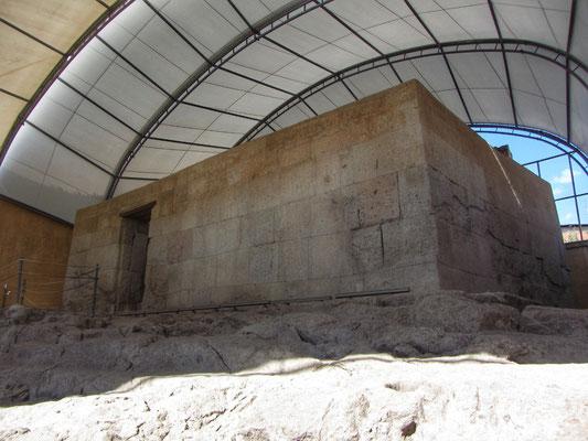 Cuarto del Rescate, zweimal mit Silber und einmal mit Gold gefüllt um den Inka Atahualpa freizukaufen