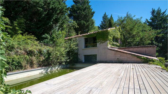 Auberge cévenole 29 - Terrasse et piscine