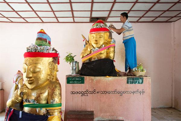 Bagan - Pagode Shwe Zi Gone 07
