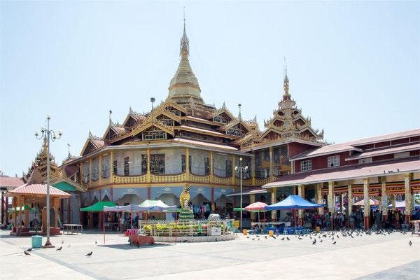 Lac Inlé - Pagode Phaung Daw Oo 02
