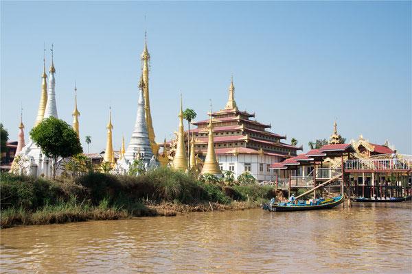 Lac Inlé - Pagode Phaung Daw Oo 06