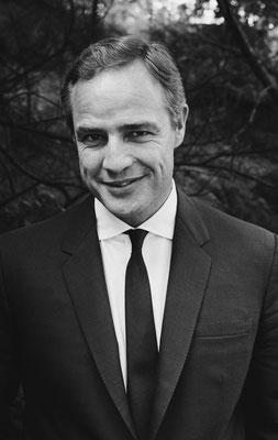 2 juin 1968 : Marlon Brando souriant à New York. © Jean-Pierre Laffont