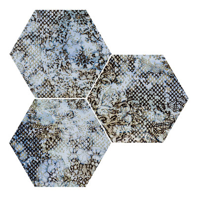 Apavisa Inedita blue hexagon