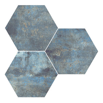 Apavisa Alchemy blue hexagon