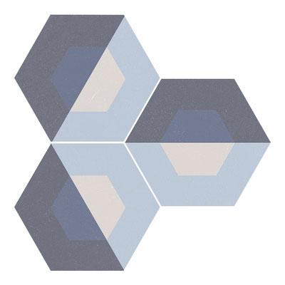 Apavisa Cube blue hexagon