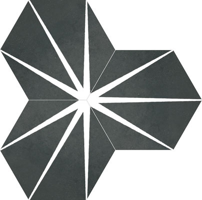 Apavisa Staline black hexagon